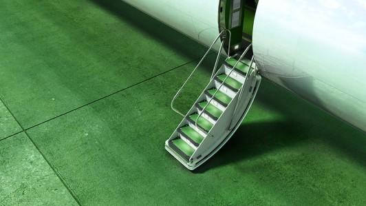schody, samolot