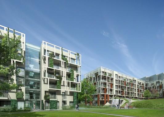 osiedle mieszkaniowe, apartamentowe, podwórze