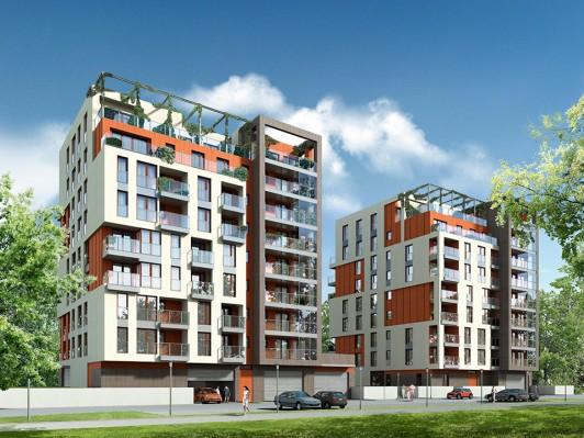 budynki mieszkalne, front, ekopark